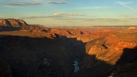 峡谷全部全景 免版税库存图片