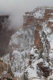 峡谷全部冬天 免版税库存图片
