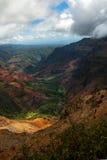 峡谷全部和平的waimea 免版税图库摄影