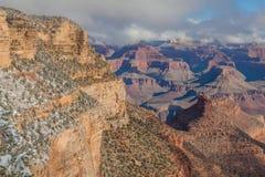 峡谷全部外缘南冬天 免版税图库摄影