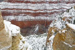 峡谷全部多雪 免版税库存照片