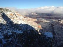 峡谷全部横向冬天 免版税库存图片