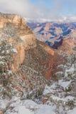 峡谷全部横向冬天 库存图片