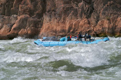 峡谷全部用筏子运送 免版税库存图片