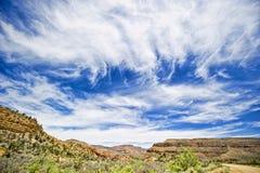 峡谷全部超出天空 库存图片