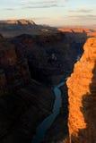 峡谷全部超出日出 库存图片