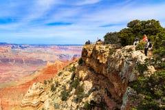 峡谷全部远景 免版税库存照片