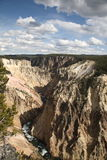 峡谷全部黄石 免版税库存图片