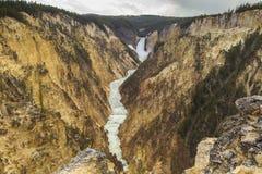峡谷全部黄石 免版税库存照片