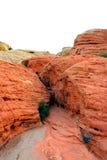 峡谷内华达红色岩石 免版税库存照片