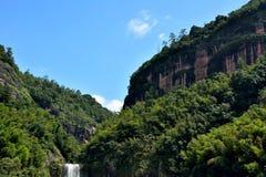 峡谷和山在泰宁,福建,中国 免版税库存照片