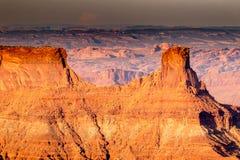 峡谷和岩层看法在西南犹他 库存图片