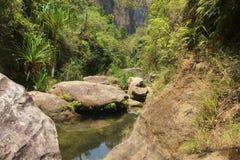 峡谷在伊萨卢国家公园在马达加斯加 库存照片