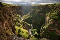 峡谷在卡扎克斯坦 免版税库存图片
