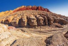 峡谷在国家级自然保护区Altyn-Emel 卡扎克斯坦 免版税库存照片