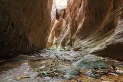 峡谷在塞浦路斯 库存照片