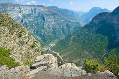 峡谷在Kelmend,阿尔巴尼亚 库存图片