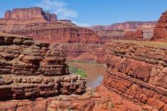 峡谷地国家公园和科罗拉多河 免版税库存图片