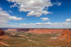 峡谷地国家公园的迷宫区在犹他 库存图片