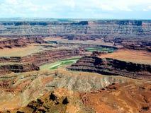 峡谷地国家公园,犹他, U S A,绿河乐队俯视 库存照片