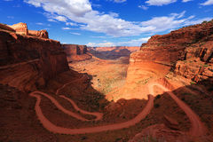 峡谷地国家公园, Shafer山谷路 免版税库存照片