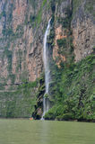 峡谷墨西哥sumidero瀑布 库存图片