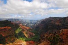 峡谷夏威夷海岛考艾岛公园状态waimea 免版税库存图片