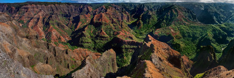 峡谷夏威夷考艾岛waimea 免版税库存图片
