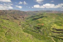 峡谷夏威夷考艾岛waimea 库存照片