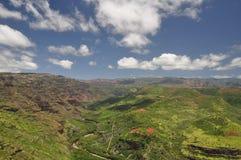 峡谷夏威夷考艾岛waimea 库存图片