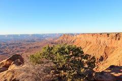 峡谷外缘沙漠 免版税库存照片