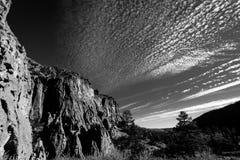 峡谷天空 库存图片