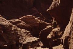 峡谷是在山的一个峡谷 库存照片