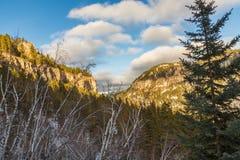 峡谷景色在1月 免版税图库摄影