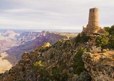 峡谷沙漠全部视图城楼 免版税库存图片