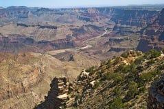 峡谷沙漠全部视图 库存照片
