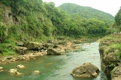 峡谷河风景视图 图库摄影