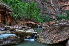 峡谷河 图库摄影