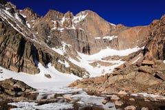 峡谷湖渴望峰顶 库存图片