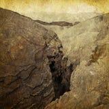 峡谷照片葡萄酒 免版税库存图片