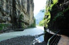 峡谷瑞士 免版税图库摄影