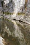 峡谷石灰石山河 免版税库存图片