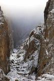峡谷神秘的岩石 免版税库存照片