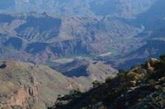 峡谷科罗拉多全部河 地质的形成 免版税图库摄影