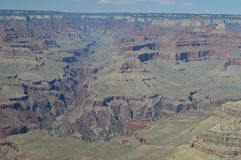 峡谷科罗拉多全部河 E 地质的形成 免版税图库摄影