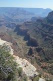 峡谷科罗拉多全部河 Hermist休息路线 地质的形成 免版税库存图片