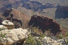 峡谷科罗拉多全部河 Hermist休息路线 地质的形成 免版税图库摄影