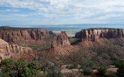 峡谷科罗拉多纪念碑国民 库存照片
