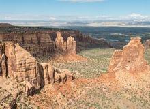 峡谷科罗拉多纪念碑国民 免版税库存图片