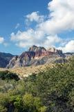 峡谷红色岩石 免版税图库摄影